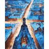 Свет городских улиц Раскраска картина по номерам акриловыми красками на холсте