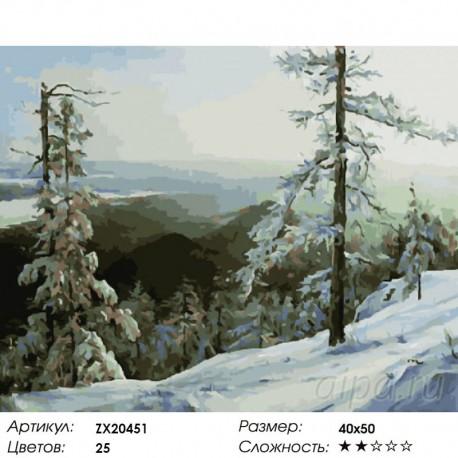 Количество цветов и сложность Горный воздух Раскраска картина по номерам акриловыми красками на холсте