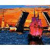 Разведение мостов Раскраска картина по номерам акриловыми красками на холсте