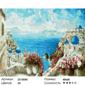 Количество цветов и сложность Адриатическое море Раскраска картина по номерам акриловыми красками на холсте