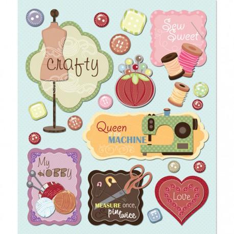 Хобби (Маленькие радости жизни) Стикеры для скрапбукинга, кардмейкинга K&Company