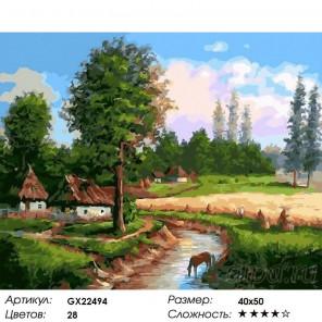 Количество цветов и сложность Плодородный край Раскраска картина по номерам акриловыми красками на холсте