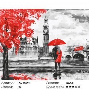 Три цвета Лондона Раскраска картина по номерам на холсте