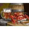 Пиво и раки Раскраска картина по номерам акриловыми красками на холсте