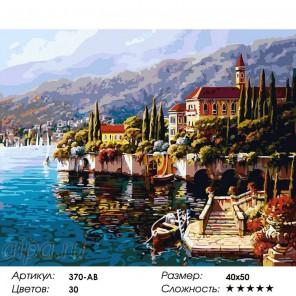Варенна. Италия Раскраска ( картина ) по номерам акриловыми красками на холсте Белоснежка