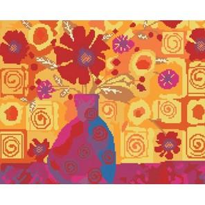 Оранжевая композиция Алмазная вышивка (мозаика) Molly