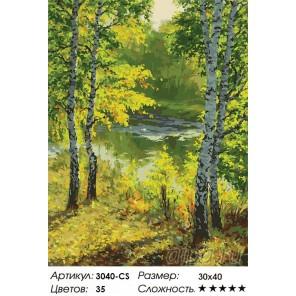 Подмосковье Раскраска картина по номерам на картоне Белоснежка