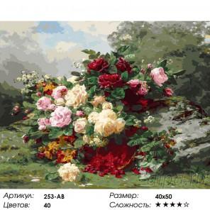 Количество цветов и сложность Розы и ягодная корзина Раскраска картина по номерам на холсте Белоснежка