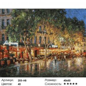 Ночные улицы Рима (художник Игорь Разживин) Раскраска картина по номерам на холсте Белоснежка