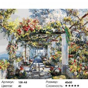 Павлины на прогулке Раскраска ( картина ) по номерам на холсте Белоснежка