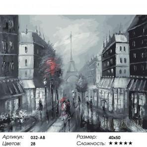 Париж Раскраска ( картина ) по номерам акриловыми красками на холсте Белоснежка