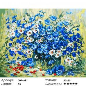 Летний натюрморт Раскраска ( картина ) по номерам акриловыми красками на холсте Белоснежка