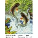 Количество цветов и сложность Прыгающие карпы Раскраска ( картина ) по номерам на холсте Белоснежка