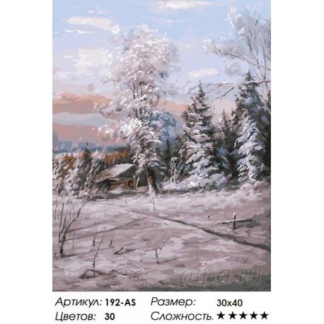 Количество цветов и сложность Зимний день Раскраска картина по номерам на холсте Белоснежка