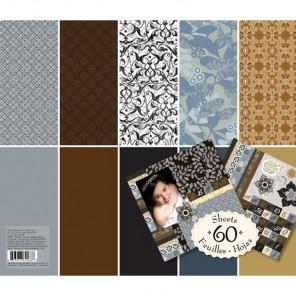 Натуральные цвета (Базовые цвета) 31х31см Набор бумаги для скрапбукинга, кардмейкинга  K&Company