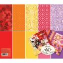 Теплые цвета (Базовые цвета) 31х31см Набор бумаги для скрапбукинга, кардмейкинга  K&Company