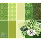 Зеленый тон (Базовые цвета) 31х31см Набор бумаги для скрапбукинга, кардмейкинга K&Company