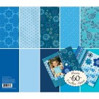 Голубой тон (Базовые цвета) 31х31см Набор бумаги для скрапбукинга, кардмейкинга K&Company