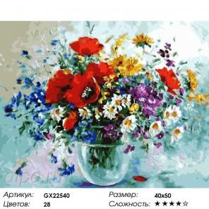 Количество цветов и сложность Яркие краски лета Раскраска картина по номерам на холсте