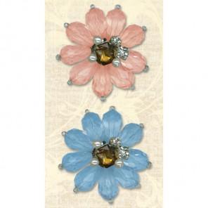 Цветы (Нежный букет) Стикеры-стразы для скрапбукинга, кардмейкинга K&Company