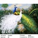 Количество цветов и сложность Два павлина Раскраска картина по номерам на холсте
