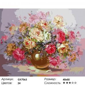 Количество цветов и сложность Нежность чувств Раскраска картина по номерам на холсте