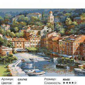 Количество цветов и сложность Залитая солнцем Италия Раскраска картина по номерам на холсте