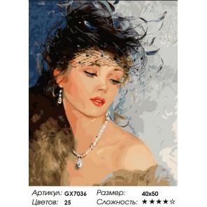 Женская красота Раскраска картина по номерам на холсте