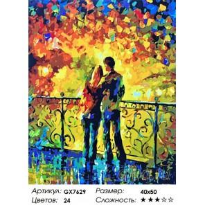 Количество цветов и сложность Влюбленная пара Раскраска картина по номерам на холсте