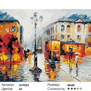 Количество цветов и сложность Сентябрь в городе Раскраска картина по номерам на холсте