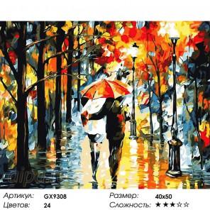 Количество цветов и сложность Лирическое настроение Раскраска картина по номерам на холсте