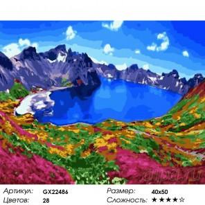 Количество цветов и сложность Прекрасное озеро Раскраска картина по номерам на холсте