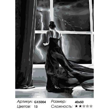 гроза раскраска картина по номерам на холсте Gx5004
