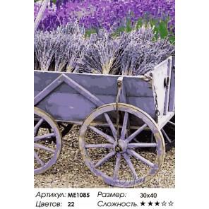 Количество цветов и сложность Вдохновение Провансом. Лаванда Раскраска по номерам на холсте Menglei