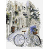 На велосипеде по провансу Раскраска по номерам на холсте Menglei