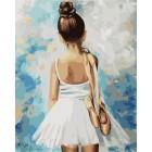 Маленькая балерина Раскраска по номерам на холсте Menglei
