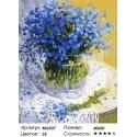 Количество цветов и сложность Незабудки Раскраска по номерам на холсте Menglei