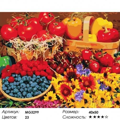 Раскраска по номерам Богатый урожай картина 50х40 см на ...
