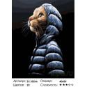 Кот в пуховичке Раскраска картина по номерам на холсте