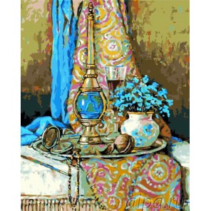 Лазурный натюрморт Раскраска картина по номерам на холсте Menglei