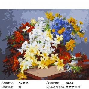 Количество цветов и сложность Все краски лета Раскраска картина по номерам на холсте
