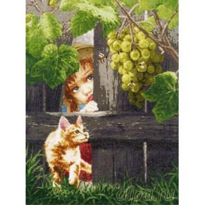 За виноградом Набор для вышивания Золотое Руно