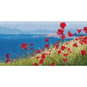 Лето, море, маки Набор для вышивания Овен