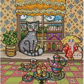 Хранитель дома Канва с рисунком для вышивки бисером Конек