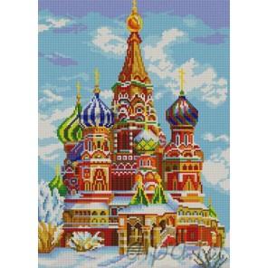 Храм Василия Блаженного Канва с рисунком для вышивки бисером Конек