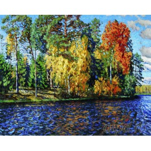 Березы над рекой Алмазная вышивка (мозаика) Color Kit