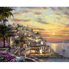Закат на Санторини Алмазная вышивка (мозаика) Color Kit