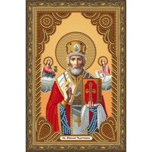 В рамке Святой Николай Чудотворец Алмазная частичная мозаика на подрамнике Color Kit