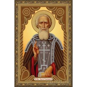 В рамке Святой преподобный Сергий Радонежский Алмазная частичная мозаика на подрамнике Color Kit