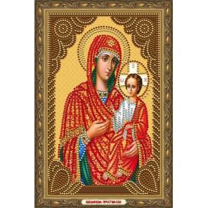 В рамке Казанская Божия Матерь Алмазная частичная мозаика на подрамнике Color Kit